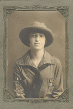 Fay Gunn in uniform