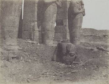 Untitled (Ramesseum, with the head from a Greene II), 1854–55