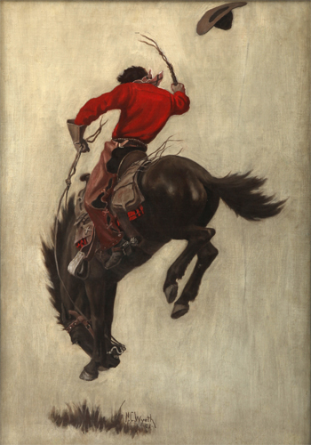 Saturday Evening Post, cover (Bucking Bronco), 1903