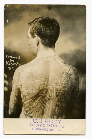 "Unknown, Backpiece, San Francischo tattooer C.J. ""Pop"" Eddy's promotional flyer, c. 1920"