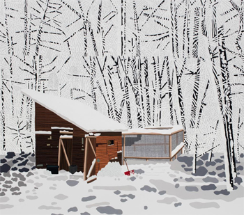 Snowscape with Barn, 2017