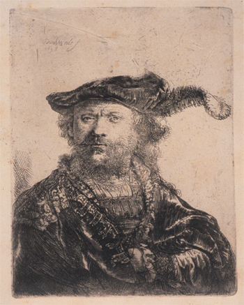 Self-Portrait in a Velvet Cap with Plume, 1638