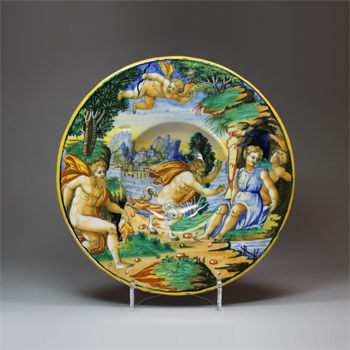 dish with Jupiter surprising Antiope, ca. 1540 – 50