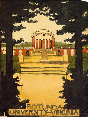 Rotunda University of VirginiaTrain at Night in the Desert, 1916
