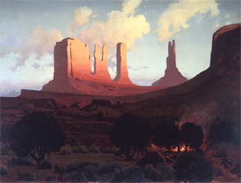 Sunset in Monument Valley, circa 1928