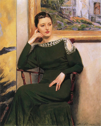 Rae Seated (Green Dress), 1935