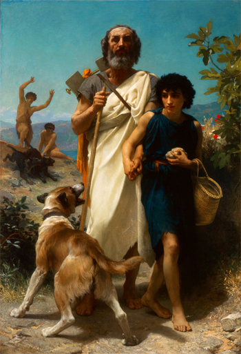Homer and His Guide (Homère et son guide), 1874