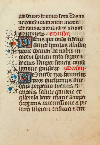 Leaf from a Liturgical Psalter