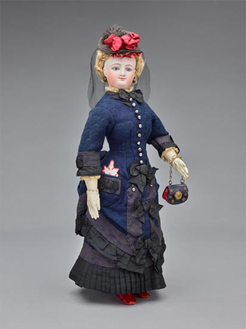 "Fashion Doll,  ""G. Townsend"" and Wardrobe"