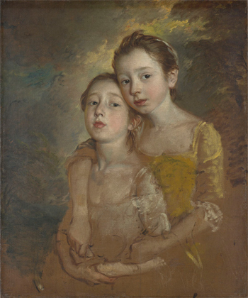Mary and Margaret Gainsborough, the Artist's Daughters, Playing with a Cat, ca. 1760–61