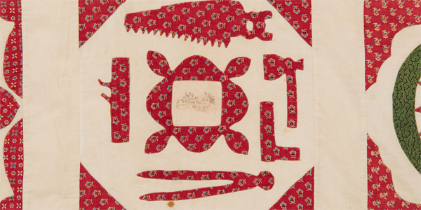 Exhibition:  Ink + Icons: Album Quilts from the Permanent Collection