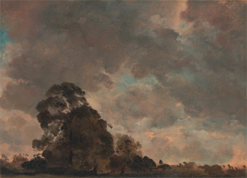 Cloud Study (Landscape at Hampstead, Trees and Storm Clouds), c. 1821