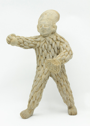 Ball Player in Warrior Bird Costume, Pre-Columbian, Classic Period, 600–800 C.E