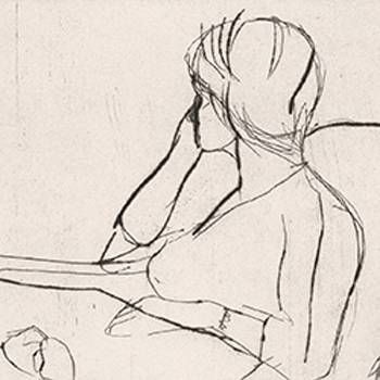 #1 (the artist's wife, Phyllis) (detail), 1964 from the portfolio